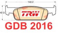 Колодки тормозные передние Logan II 1.2-1.5DCI TRW, GDB2016