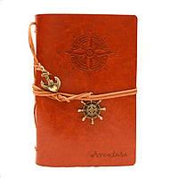 Винтажный стильный блокнот Aventura морская тематика (светло-коричневый)