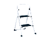 Металлическая стремянка лестница 82см на две ступеньки с резиновыми ковриками