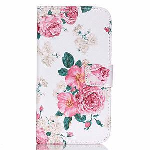 Чехол на Samsung Galaxy J5 J500H книжка боковой с отсеком для визиток, Элегантные розы