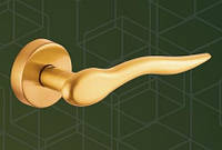 Ручка  дверная 515010-403 mp10, yuvarlak WC (круг WC), ант. латунь