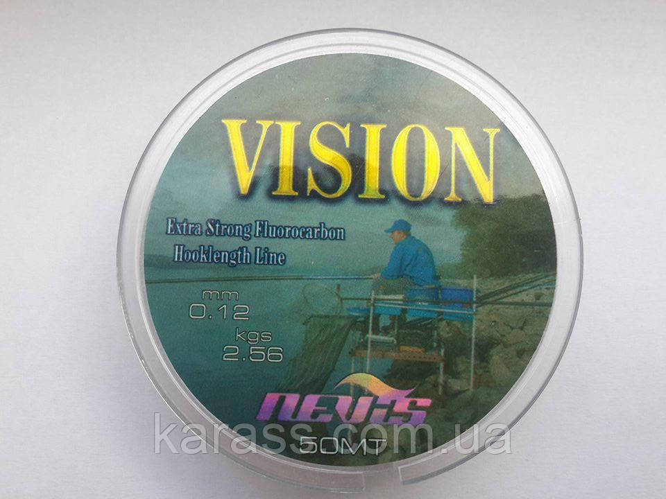 Поводочная леска NEVIS VISION 0,12 MM 50м