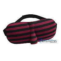 3D очки для сна в полоску с бамбуковым волокном.