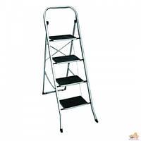 Металлическая стремянка лестница 132см на четыри ступеньки с резиновыми ковриками