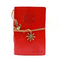 Винтажный стильный блокнот Aventura морская тематика (красный)