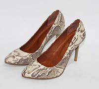 Женские туфли лодочки из натуральной кожи питон, фото 1