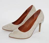 Женские туфли лодочки, натуральный замш, фото 1