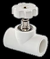 Полипропиленовый вентиль 32 Tebo белый