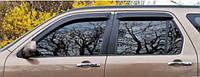 Ветровики на окна тонкие (тониров.) EGR HONDA CRV 02-06 #