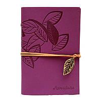 Винтажный блокнот Aventura Серия Nature La Femme Edition  (фиолетовый)