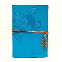 Винтажный блокнот Aventura Серия Nature La Femme Edition  (голубой)
