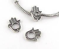 Шарм Ладошка для браслета Pandora (пандора) серебро