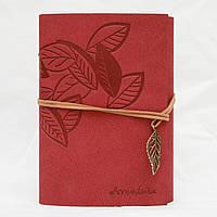 Винтажный блокнот Aventura Серия Nature La Femme Edition  (вишневый)