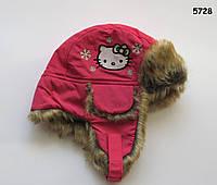 Зимняя шапка Hello Kitty для девочки. 1-3, 6-8 лет