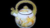 Чайник эмалированный со свистком 2,2 л WELLBERG WB 3442