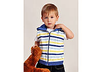 Жилетка с капюшоном для мальчика (2 цвета, р.86-104)