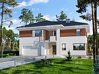MS208. Комфортабельный двухэтажный дом с гаражом на два автомобиля