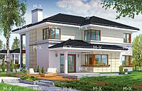MS209. Современный двухэтажный коттедж с террасой
