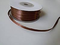 Лента атлас 3 мм шоколад метр