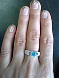 Серебряное кольцо 925 пробы с накладками золота 375 пробы, фото 5