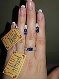 Серебряное кольцо 925 пробы с накладками золота 375 пробы, фото 6