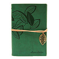Винтажный блокнот Aventura Серия Nature La Femme Edition  (зеленый)