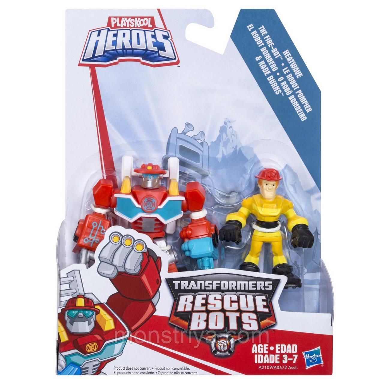 Боты спасатели, Playskool Heroes Transformers фигурка Heatwave Kade Burns