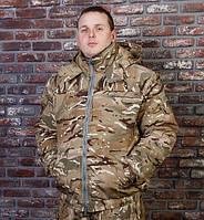 """Куртка утепленная рабочая зимняя """"Мистраль"""" укороченная камуфляж мультикам"""