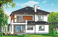 MS211. Проект современного двухэтажного дома c подвалом, фото 1