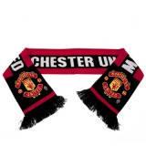 Шарф футбольный вязаный с  символикой FC Manchester United  ФК Манчестер Юнайтед