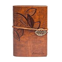 Винтажный блокнот Aventura Серия Nature La Femme Edition  (светло-коричневый)