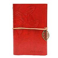 Винтажный блокнот Aventura Серия Nature La Femme Edition  (красный)