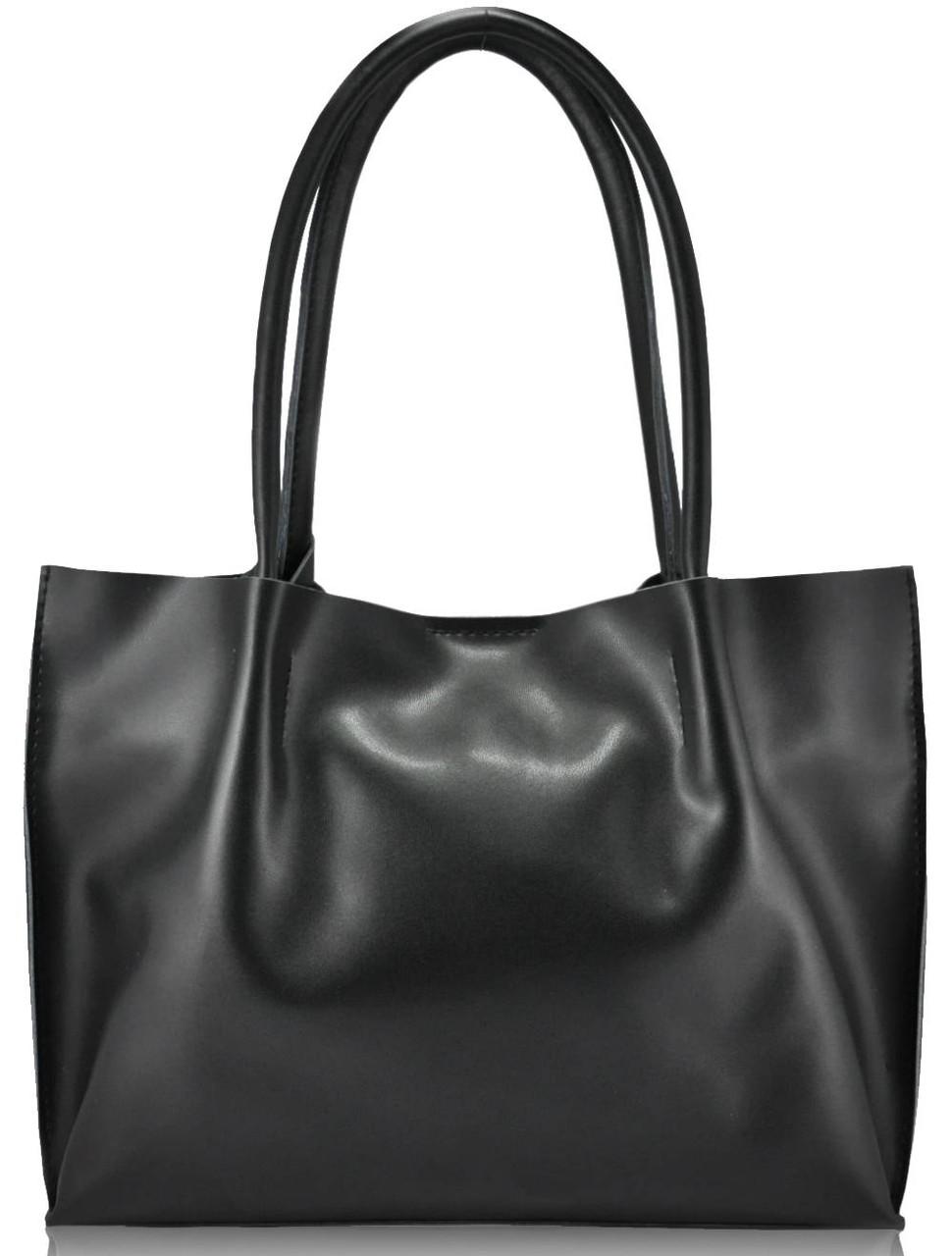 Женская кожаная сумка 827 черная