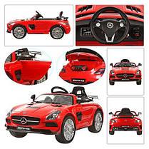 Детский Электромобиль Mercedes M 2760 EBR-3 красный, колеса EVA, ручка для транспортировки, пульт Bluetooth, фото 3