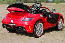 Детский Электромобиль Mercedes M 2760 EBR-3 красный, колеса EVA, ручка для транспортировки, пульт Bluetooth, фото 2