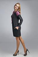 Уютное  платье-туника с боковыми карманами  из мягкого трикотажа