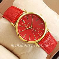 Бюджетные часы Geneva Red/Gold/Red