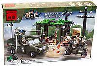 Конструктор Brick 811 военный лагерь с грузовиком, 308 деталей, размер коробки 34*5*26 см. в ящике 30 шт.