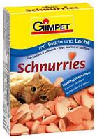 Витамины для кошек (Gimpet) сердечки с таурином и лососем, 650 шт.