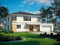 MX41. Проект современного двухэтажного дома в средиземноморском стиле, фото 1