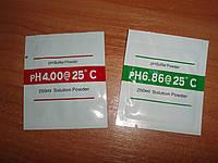 Калибровочный раствор порошок в пакетиках для pH метров 2 шт 4.00 6.86 дистилянт дистиллированная вода