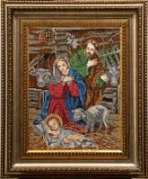 Схема для вышивки бисером иконы Рождесто Христово