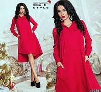 Платье-рубашка асимметричное в трех расцветках 1006