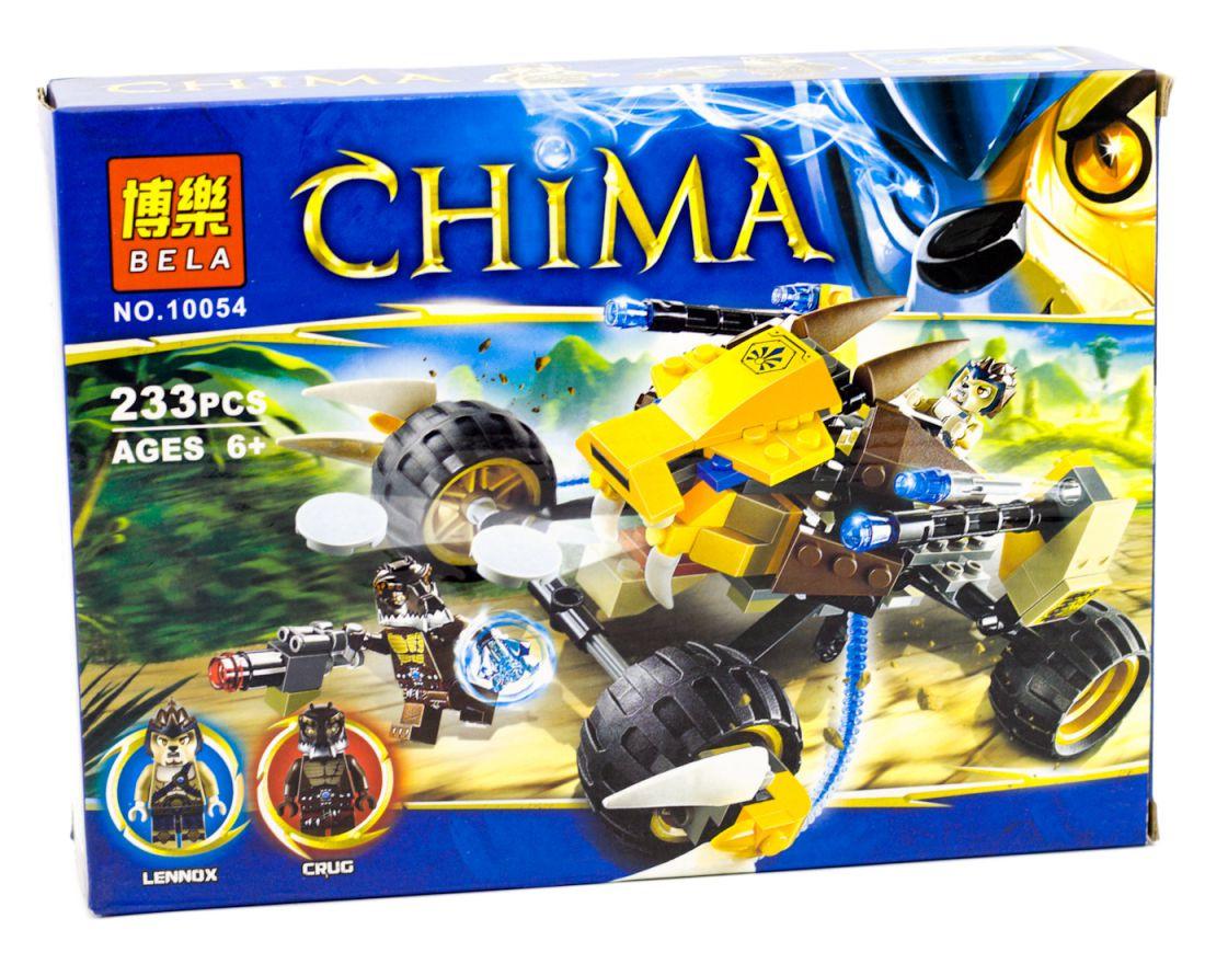 Конструктор Bela 10054 аналог LEGO Чима 70002 Лев Леннокс атакует 233 дет