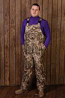 """Мужские рабочие утепленные брюки (полукомбинезон) зимний """"Тайфун"""" камуфляж пиксель"""