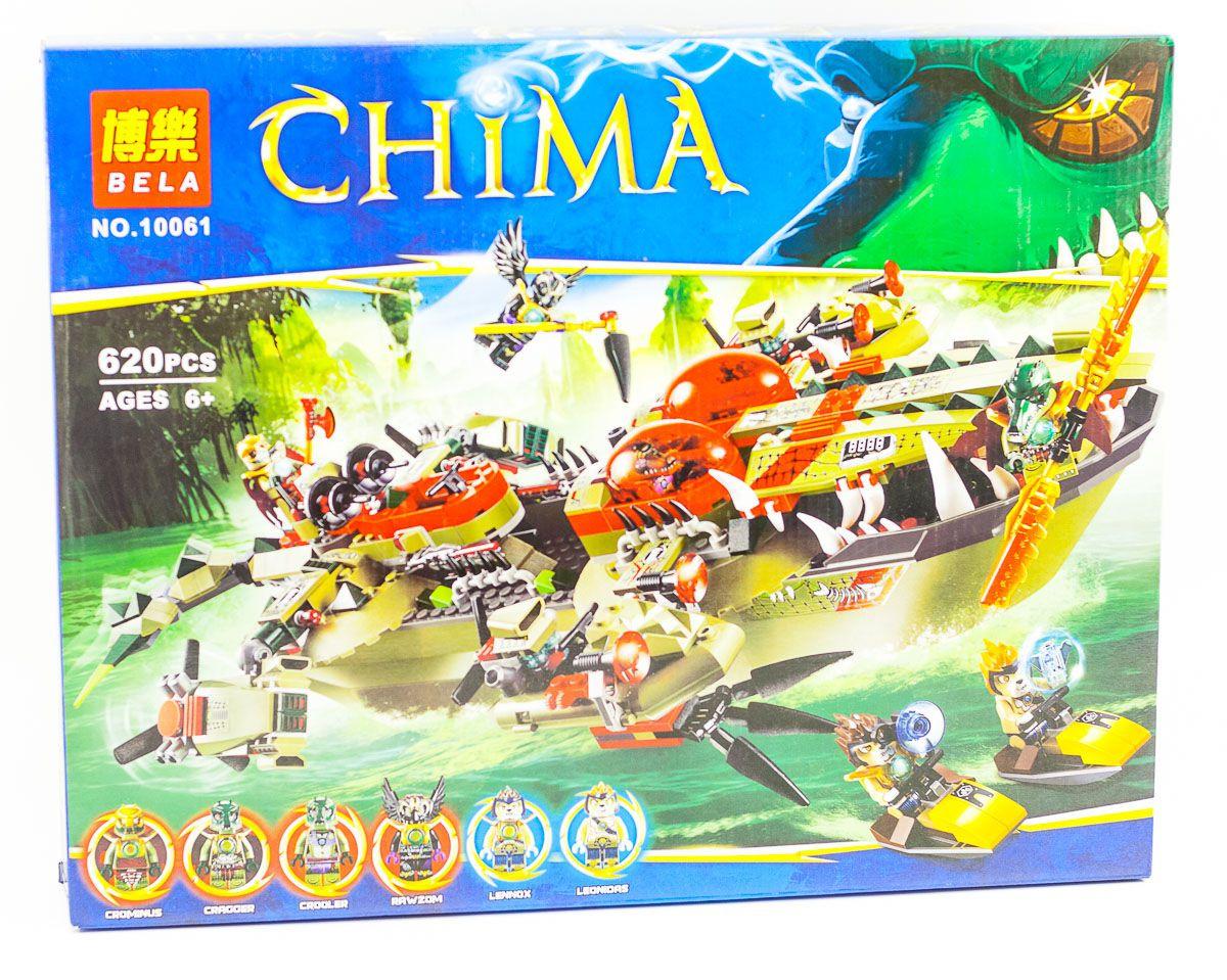 """Конструктор аналог LEGO Chima/Чима 70006 Bela """"Флагманский корабль Краггера"""" 609 деталей арт.10061"""