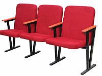 Кресло для актового зала, мягкое, 3-местное, высокое