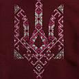 Жіночий светр-худі Тризуб-вишиванка , фото 2