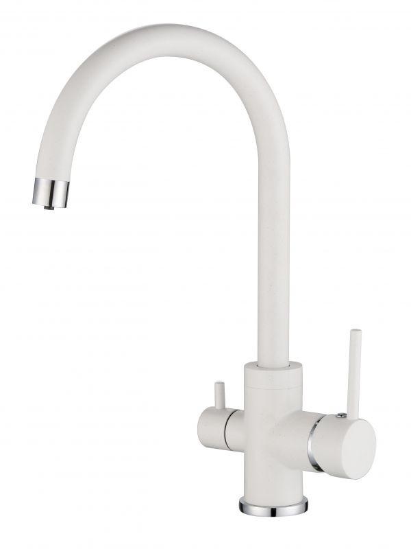 Смеситель для мойки с подключением питьевой воды Aqusanita 2963-710 Алба белый