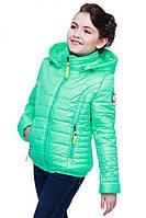 Отличная детская демисезонная курточка для девочки с капюшоном